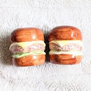 Tiny Burger Salt and Pepper Shakers